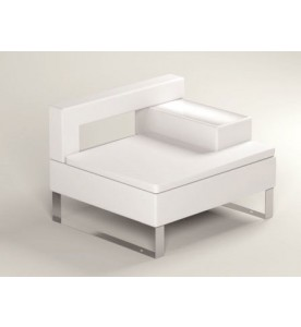 Lounge-Serie Cubix WHITE: Ecke links