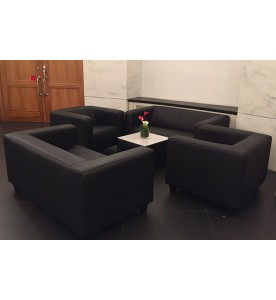 Black Lounge Sessel